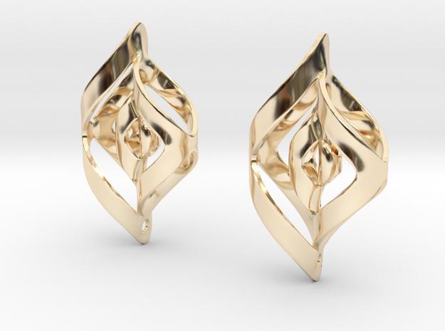 Swirl Design Earrings 3d printed