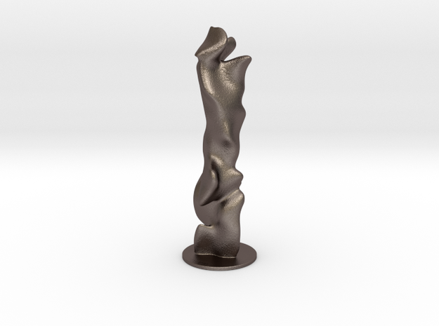 3D Generative Art - Color forest in Polished Bronzed-Silver Steel