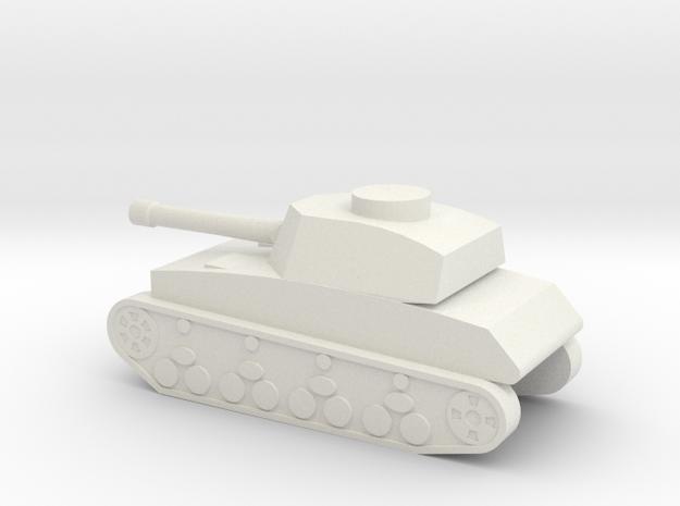 Panzer IV 1I160 in White Natural Versatile Plastic