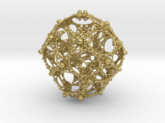 mandelbulb pendant in Natural Brass