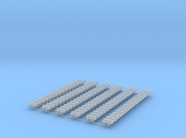 Kette 1 steg 12,2mm (=610 mm) innenbreite 4mm 1:50 in Smooth Fine Detail Plastic