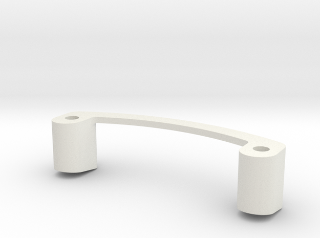 Mini-Z Spoiler Mount R8 LMS (Tall) in White Natural Versatile Plastic