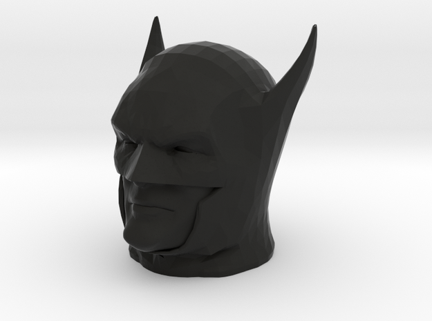 Batman Year One head in Black Natural Versatile Plastic