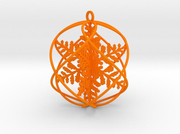 double snowflakes bauble in Orange Processed Versatile Plastic
