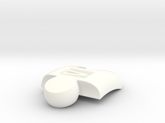 PuzzlelinkletterV in White Processed Versatile Plastic