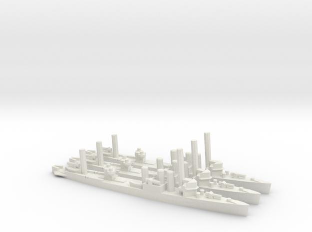 US Clemson-Class Minelayer (x3) in White Natural Versatile Plastic
