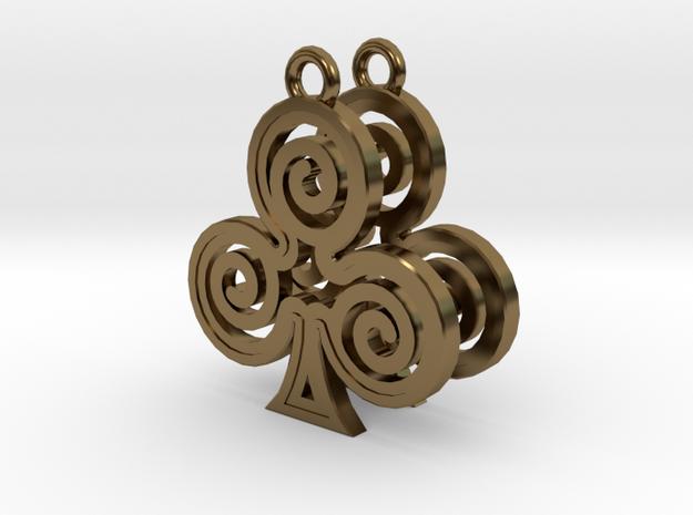 Ace Earrings - Clubs 3d printed