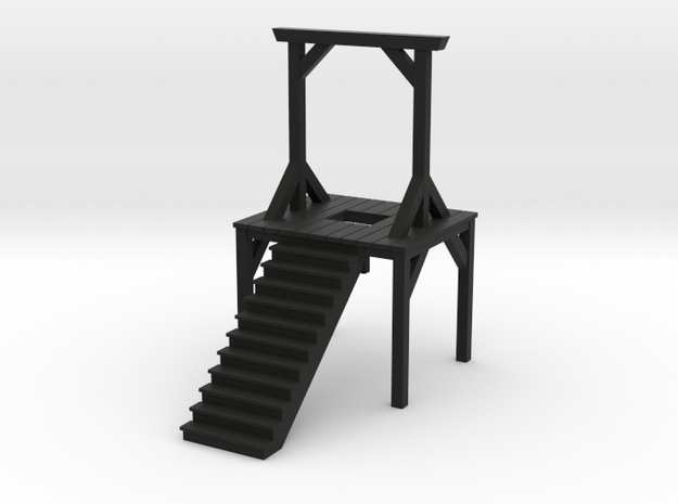 Gallows - Double Posted, Dropped (N Scale) 3d printed
