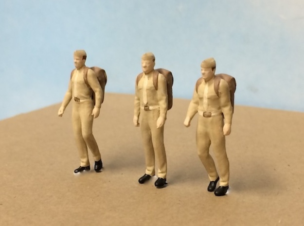 WW II Army Infantry Set 2 in Smoothest Fine Detail Plastic: 1:64 - S