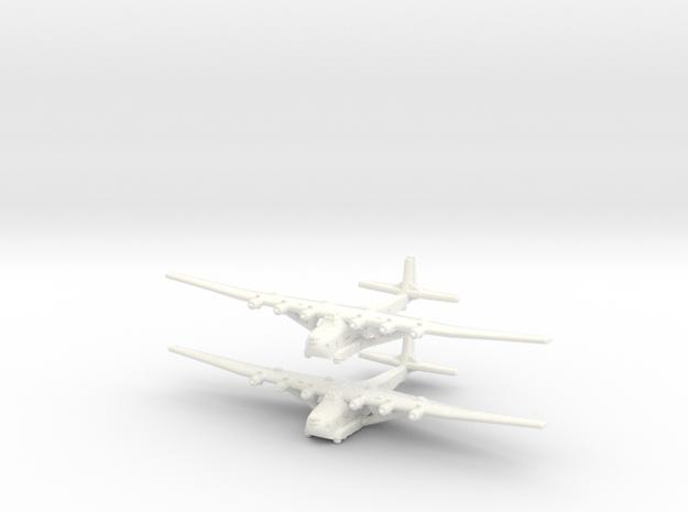 Me-323E2/WT German Gun Ship- Global War - (Qty. 2) in White Strong & Flexible Polished