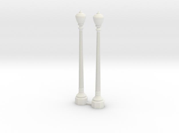 Period Street Lamps  in White Natural Versatile Plastic