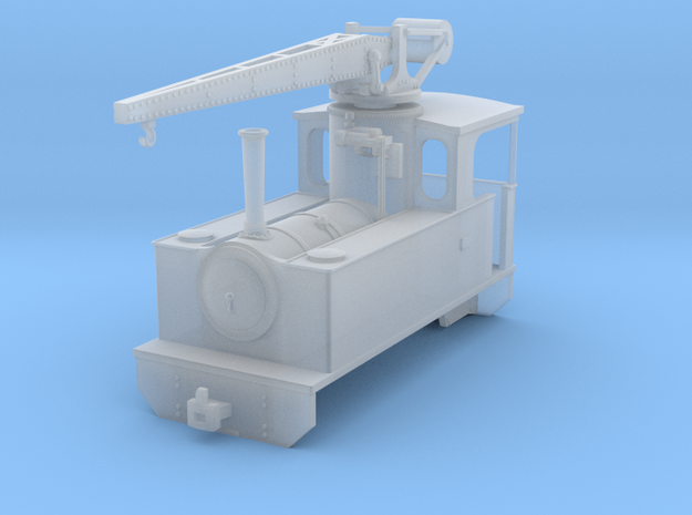 RSH crane locomotive (freelance version) in Smooth Fine Detail Plastic