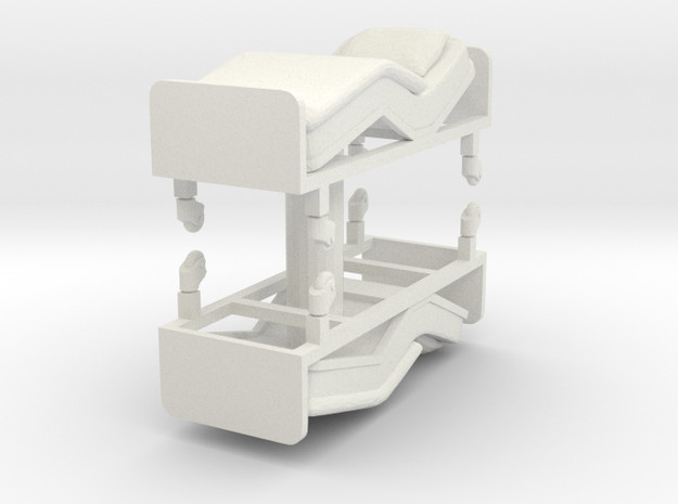Hospital Bed (x2) 1/72 in White Natural Versatile Plastic