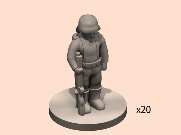 1/144 WW1 German soldier line