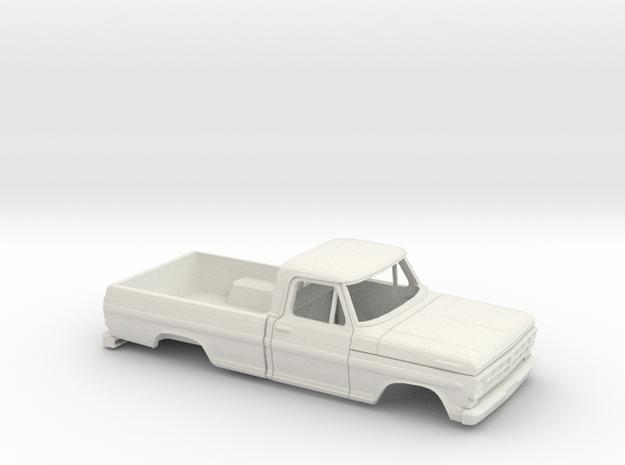 1/32 1970-72 Ford F-Series RegCab Reg Bed Shell in White Natural Versatile Plastic