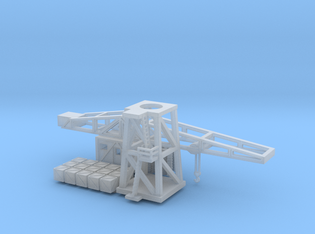 1/350th scale Harbour crane in Smooth Fine Detail Plastic
