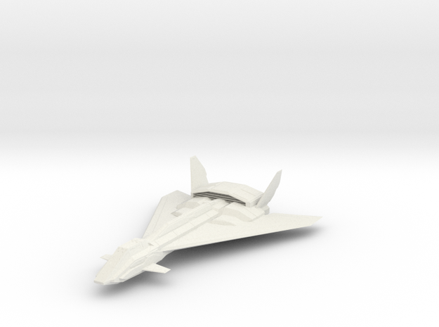 1/144 Falcon Aerospace Fighter in White Natural Versatile Plastic