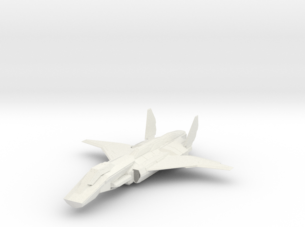 1/144 Kestrel MK2 Aerospace Fighter in White Natural Versatile Plastic