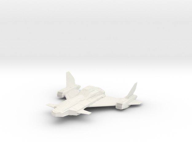 1/144 Buzzard Ground Attack Fighter in White Strong & Flexible