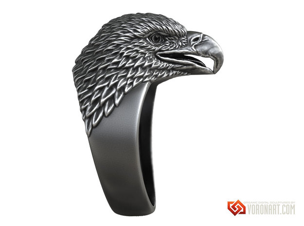 Eagle head ring bird jewelry