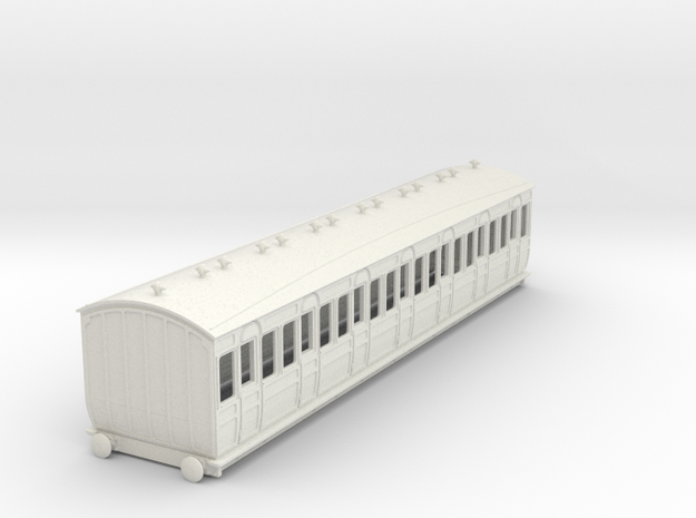 o-87-met-ashbury-bogie-third-class-coach in White Natural Versatile Plastic