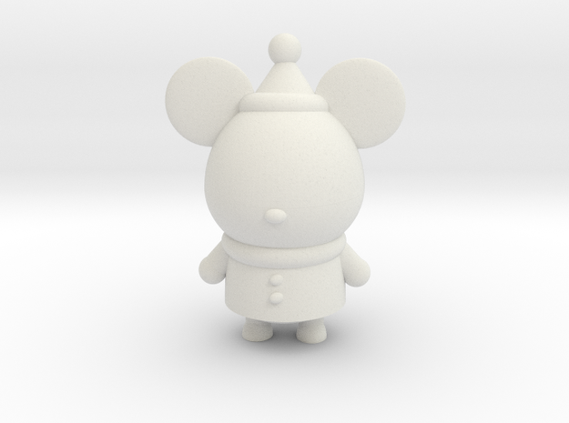 Christmas Mickey in White Natural Versatile Plastic