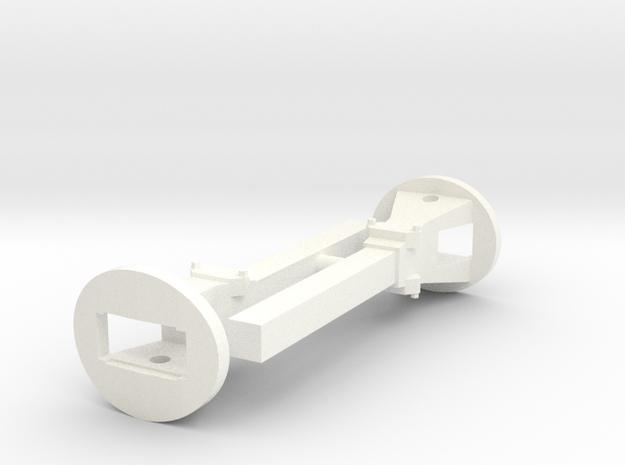 S1e-705   Trichterkupplung Paar  in White Processed Versatile Plastic