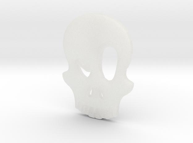 Eyebrow Skull Pendant 3d printed