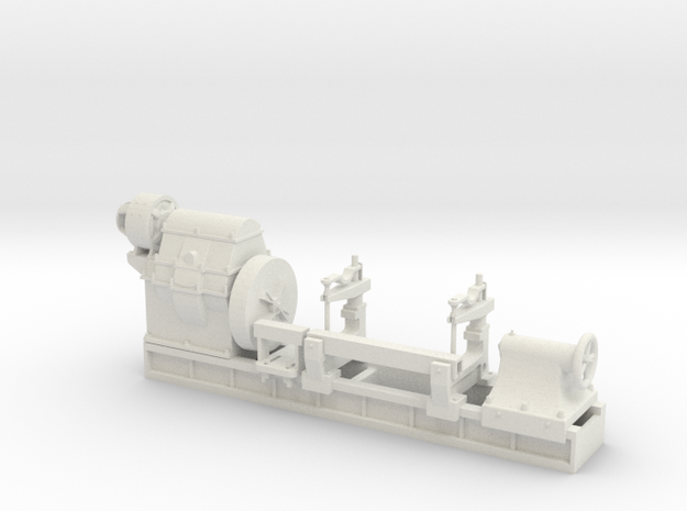 Mesta Machine Roll Turning Lathe in White Natural Versatile Plastic: 1:48 - O