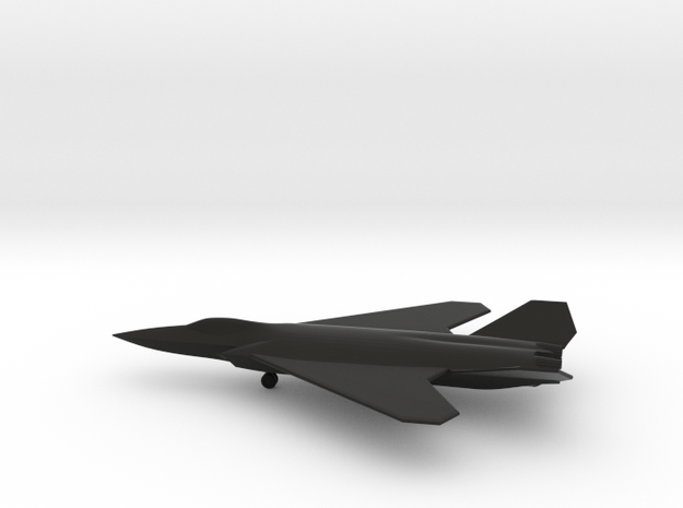 Dassault Aerospace NGF (w/Landing Gear) in Black Natural Versatile Plastic: 1:200