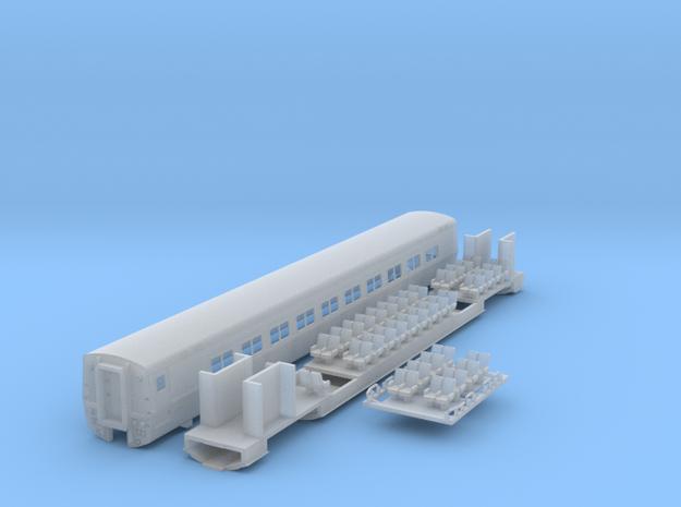 VIA / Amtrak LRC Car. N Scale in Smooth Fine Detail Plastic