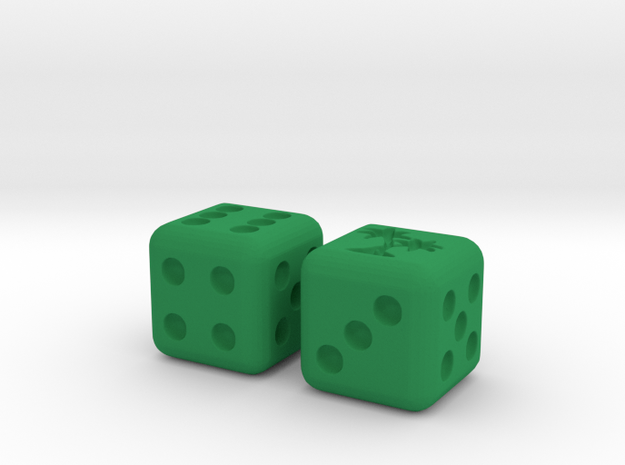 Tropical Pair O' Dice 3d printed