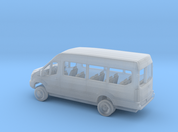 1/160 2018 Ford Transit Mid Roof Extended Van  in Smooth Fine Detail Plastic