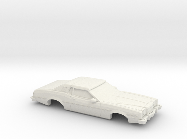1/43 1974-76  Ford Elite in White Natural Versatile Plastic