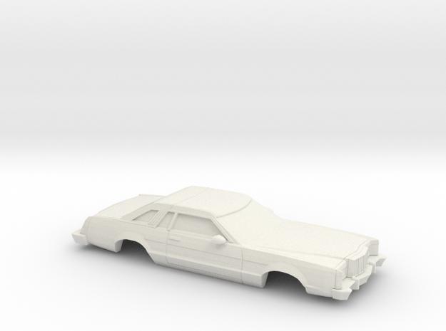 1/43 1977-79 Mercury Cougar XR 7 in White Natural Versatile Plastic
