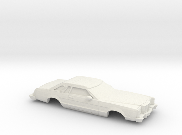 1/43 1977-79 Mercury Cougar XR 7 in White Natural Versatile Plastic