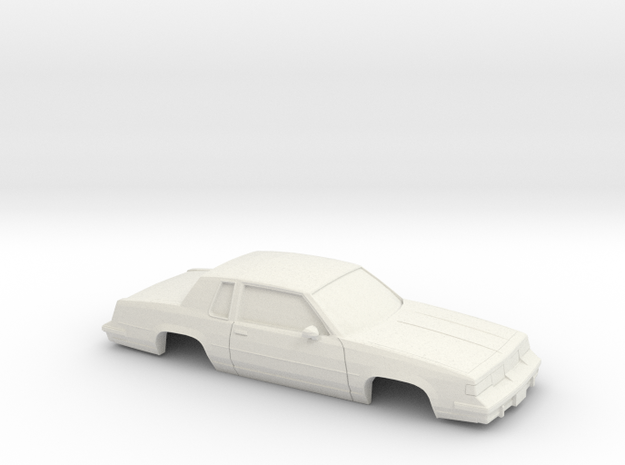 1/43 1987-88 Oldsmobile Cutlass Supreme in White Natural Versatile Plastic