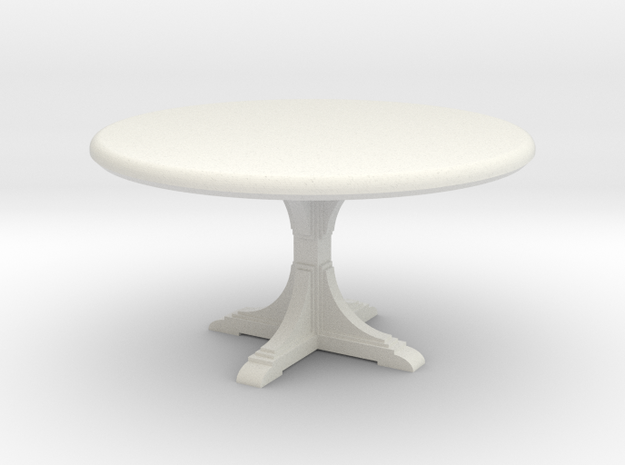 Cafe table, round. 1:48 scale.