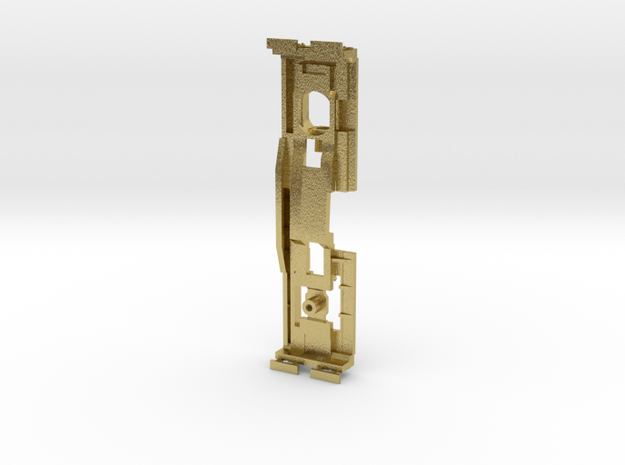 Z Scale Shay Chassis in Natural Brass
