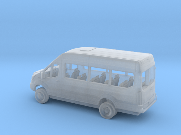 1/160 2018 Ford Transit High Extended Van Kit in Smooth Fine Detail Plastic