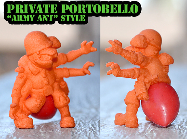 Private Portobello - Army Ant Style in Orange Processed Versatile Plastic