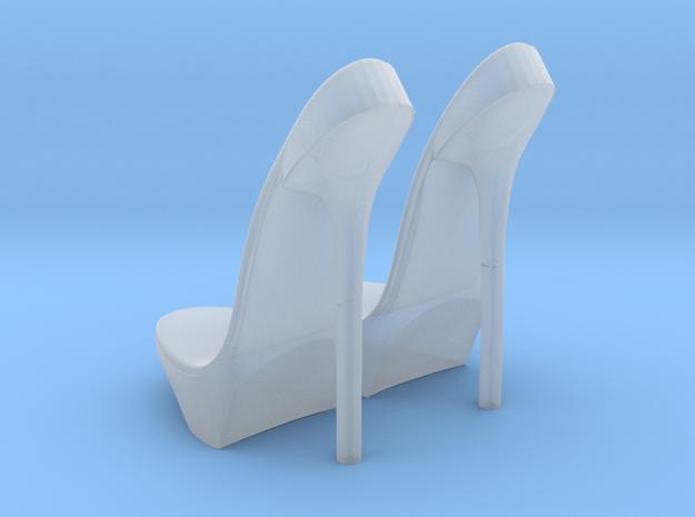 girl-platform sole base-heel2 in Smooth Fine Detail Plastic