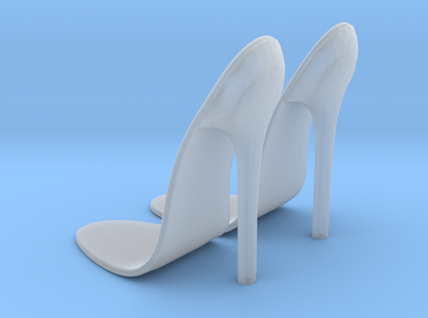 girl-sole base+heel1 in Smooth Fine Detail Plastic