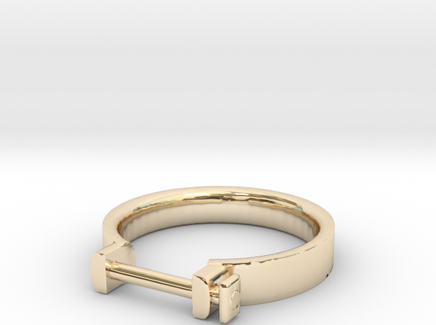 Cowboy Shackle Ring - Sz. 9 in 14K Yellow Gold