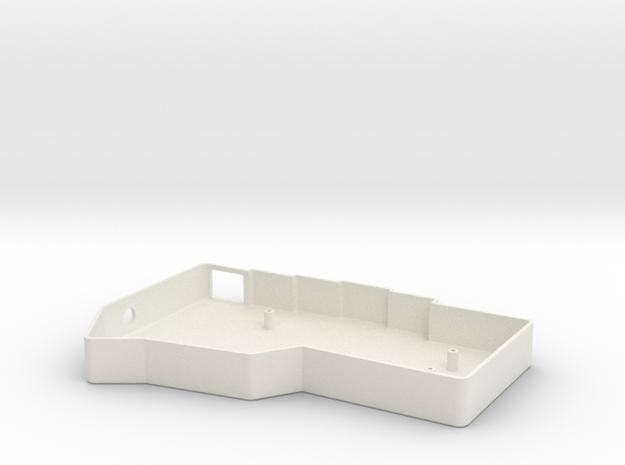 Minimalistic Corne (Crkbd) Keyboard Bottom Case (R in White Natural Versatile Plastic