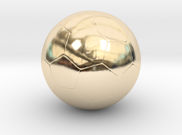 Soccer Ball in 14k Gold Plated Brass