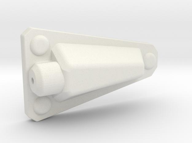 Jeep Wrangler CJ YJ Antenna mount (side) 1:10 RIVE in White Natural Versatile Plastic: 1:10
