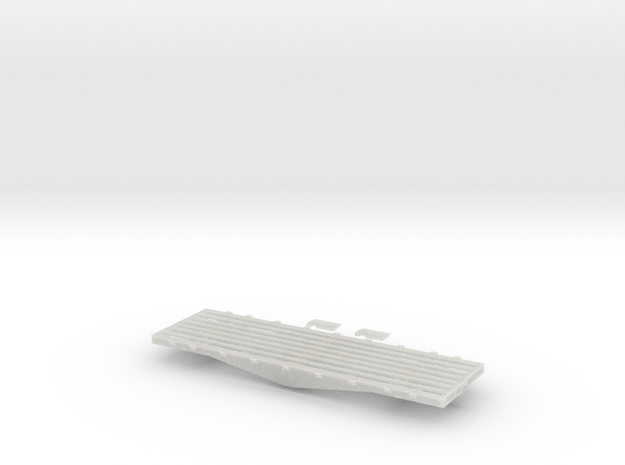 PRR F22/F23 Flat Car in S Scale in Smooth Fine Detail Plastic