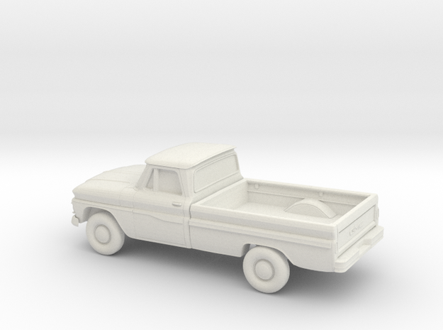 1/87 1963-66 GMC Pick Up in White Natural Versatile Plastic