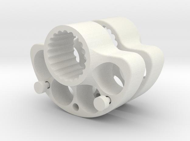 OD40-SUPPORT LEST  AR-V1-2- Splined X2 in White Natural Versatile Plastic